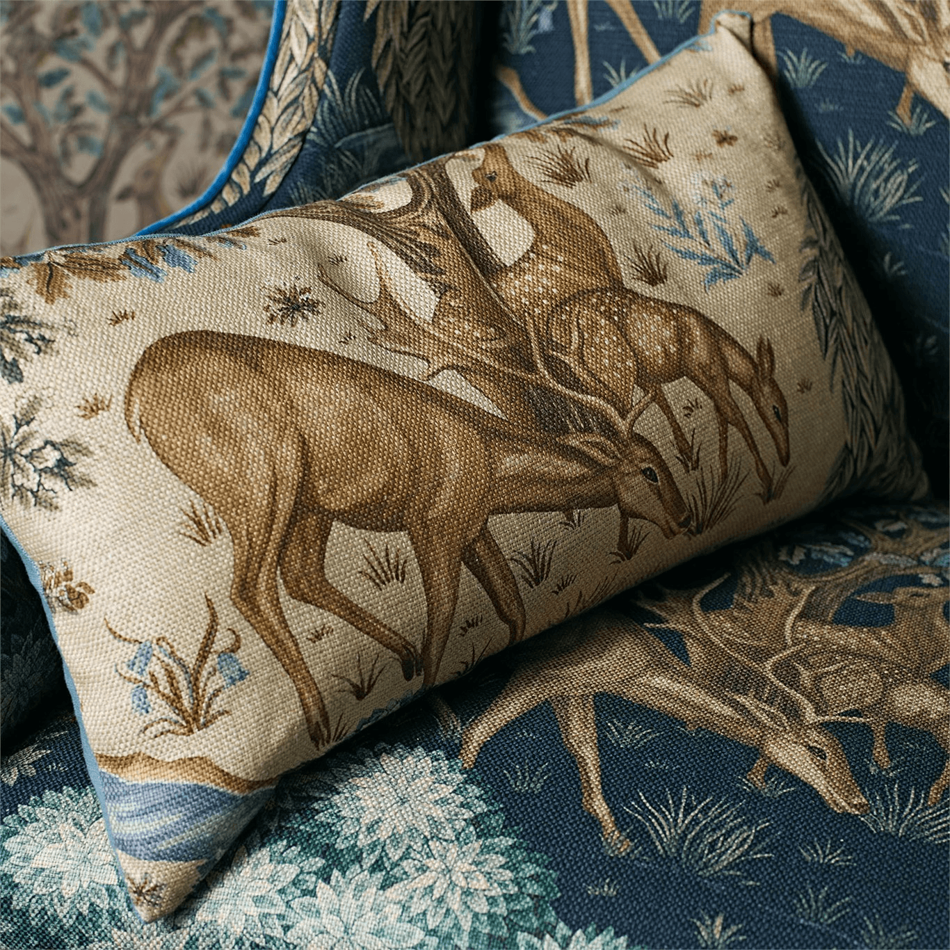 The Brook Fabric Tapestry Blue By Morris And Co 226468