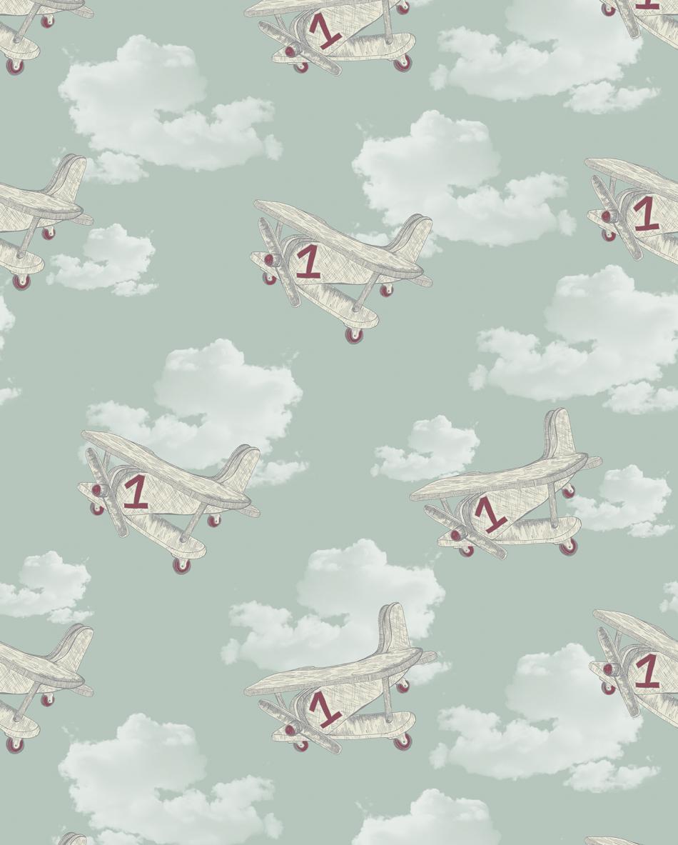 Retro Planes Amp Clouds Wallpaper By Snuugle Snuu3