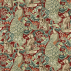 Morris and Co Forest (Viscose/Linen) Red Fabric