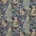 Morris and Co Forest (Viscose/Linen) Indigo Fabric
