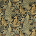 Morris and Co Forest (Velvet) Charcoal Fabric