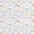 Sanderson Alphabet Zoo Rainbow Brights Fabric