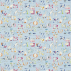 Sanderson Alphabet Zoo Powder Blue Fabric