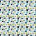 Scion Blocks Chalk Indigo Denim and Lime Fabric