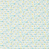 Scion Letters Play Citrus/Denim/Lagoon Fabric