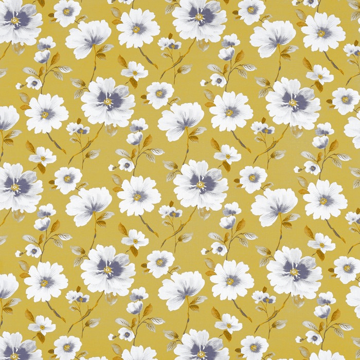 Prestigious Abbotsbury Saffron Charcoal & Gold Fabric