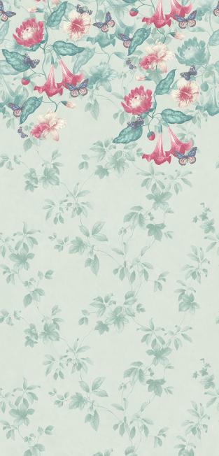 Little Greene Asterid mural Wallpaper
