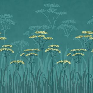 Little Greene Achillea Mural Wallpaper