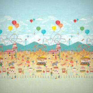 Harlequin Lifes A Circus Wallpaper