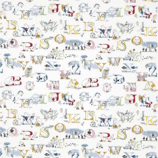 Sanderson Alphabet Zoo Embroidery Fabric