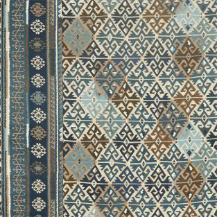 Morris and Co Burdock & Star Fabric