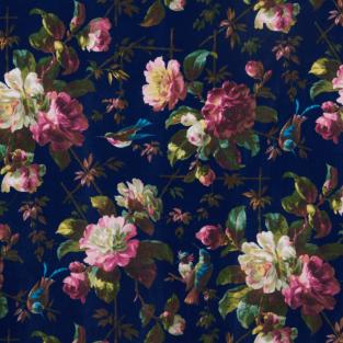 Oasis Renaissance Midnight Velvet Fabric