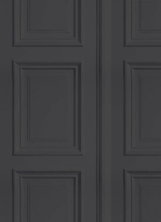 Young and Battaglia Anthracite Panelling  Wallpaper
