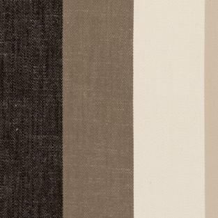 Clarke and Clarke Lawn Stripe Charcoal Fabric