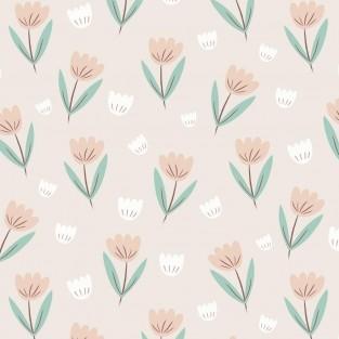Hibou Home Fleur Summer Pink/Jade Wallpaper