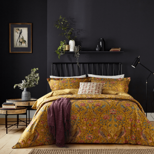 William Morris Seasons By May in Saffron Bedding