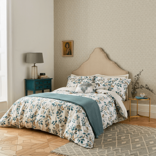 Sanderson Andhara in Teal & Cream Bedding