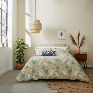 Scion Lovebirds in Flamenco Bedding