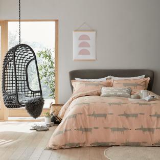 Scion Mr Fox in Blush Bedding