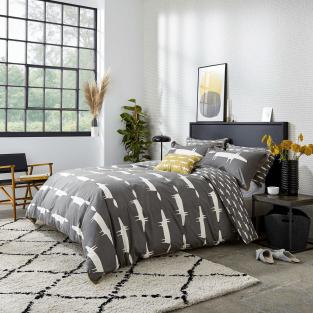 Scion Mr Fox in Charcoal Bedding
